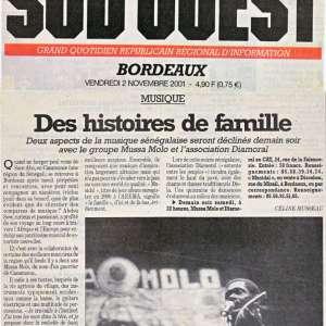 Sud Ouest - novembre 2001